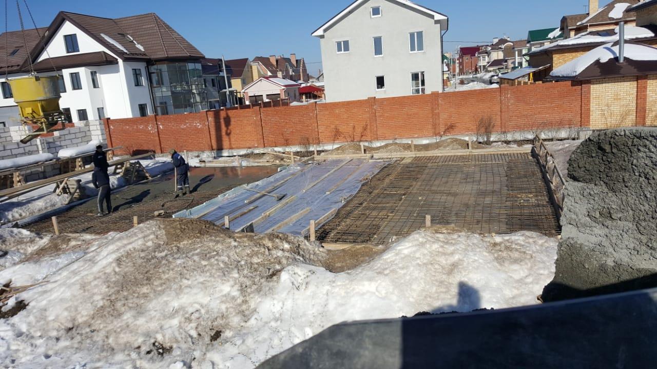 зимний бетон